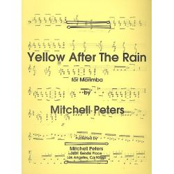 PETERS Mitchell : Yellow after the rain