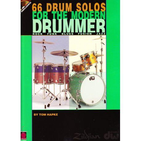 HAPKE Tom : 66 drum solos for the modern drummer