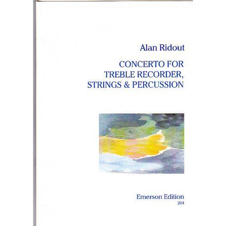 RIDOUT Alan : Concerto pour Flûte à bec, cordes et percussions
