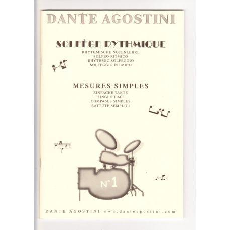 AGOSTINI Dante : Solfège rythmique vol. 1