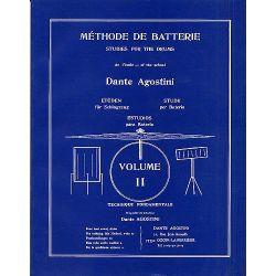 AGOSTINI Dante : Méthode de batterie Vol. 2