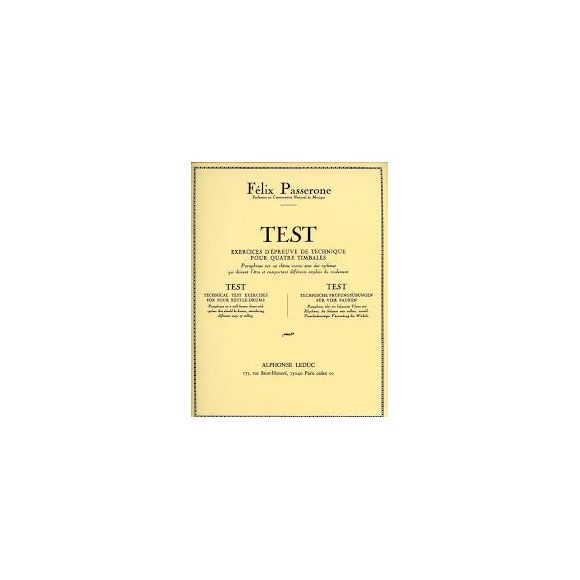 PASSERONE Felix : Test