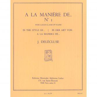 DELECLUSE Jacques : A la manière de n°1