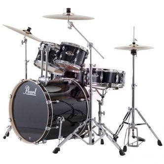 Batterie complète avec accessoires, cymbales et siège