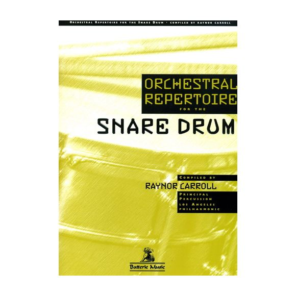 RAYNOR Carroll : Orchestral repertoire for the snare drum