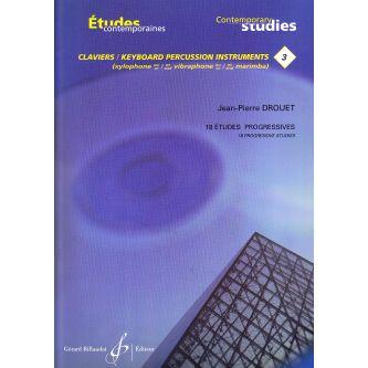 DROUET Jean-Pierre : Etudes progressives pour timbales (cahier 3)