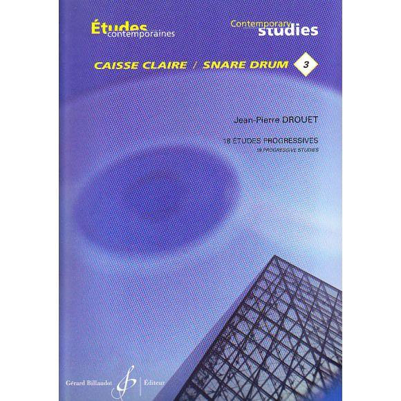 """DROUET Jean-Pierre : Études contemporaines pour caisse claire """"3"""""""