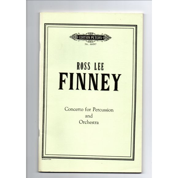 FINNEY Ross Lee : Concerto pour percussion et orchestre