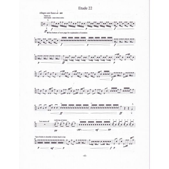 ALEO Keith : Advanced Etudes for Snare Drum