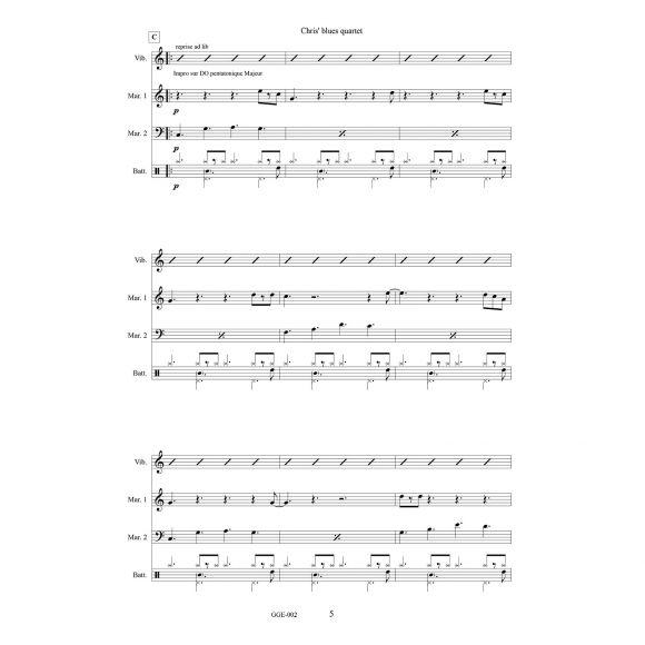 GUEGAN Guillaume : Chris' blues Quartet