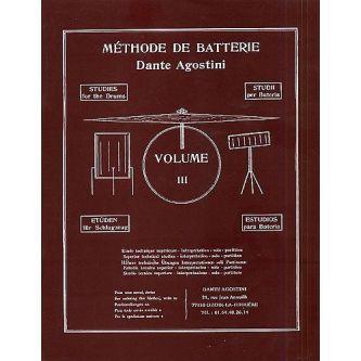 AGOSTINI Dante : Méthode de batterie Vol. 3