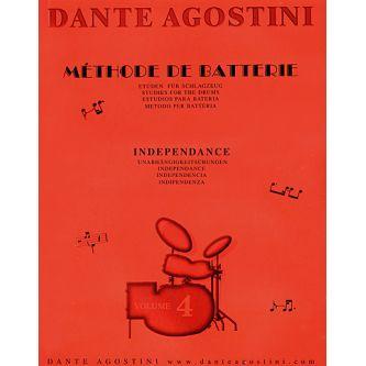 AGOSTINI Dante : Méthode de batterie Vol. 4