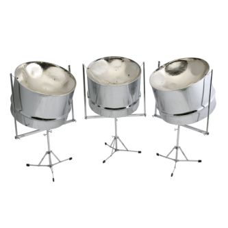 "Steel drum ""Triple Cello"" sur stands"