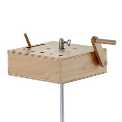 Crécelle avec boîte de résonnance et contrôle de volume