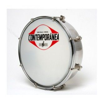 Tamborim 6'' metal chrome - 8 tir.