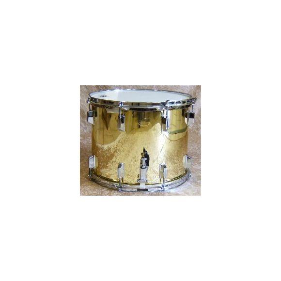Tambour fût laiton verni - 4/4 de parade à coquilles - 15''- 38x32cm