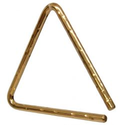 "Triangle 6"" bronze martelé"