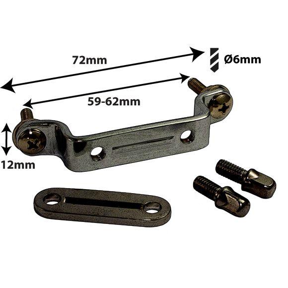 Contre-Partie Déclencheur Timbre Noir 59-62mm