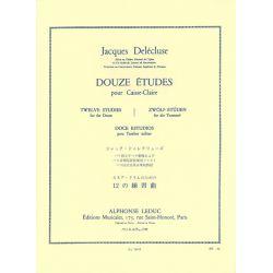 DELECLUSE Jacques : 12 études pour caisse claire