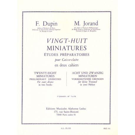 DUPIN Fancois et JORAND Marcel :  28 miniatures - 1er cahier