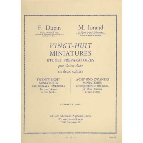 DUPIN Fancois et JORAND Marcel :  28 miniatures - 2ème cahier