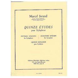 JORAND Marcel : 15 études pour xylophone