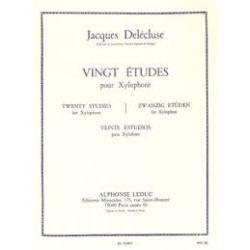 DELECLUSE Jacques : 20 études pour xylophone