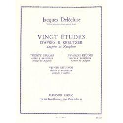 DELECLUSE Jacques : 20 études pour xylophone d'après Kreutzer