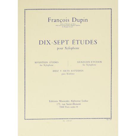 DUPIN Francois : 17 études pour xylophone