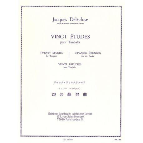 DELECLUSE Jacques : 20 études pour timbales