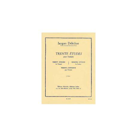 DELECLUSE Jacques : 30 études pour timbales 1er cahier