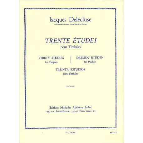 DELECLUSE Jacques : 30 études pour timbales 3ème cahier