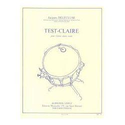 DELECLUSE Jacques : Test claire