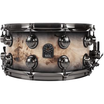 "Caisse claire ""Mappa Burl"" 14"" x 7"" - Black Smoked Gloss"