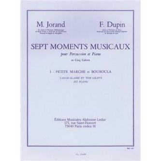 DUPIN Francois et JORAND Marcel 7 Moments musicaux 1