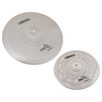 "Set 2 Cymbales Silencieuces Mute - 14"" 20"""