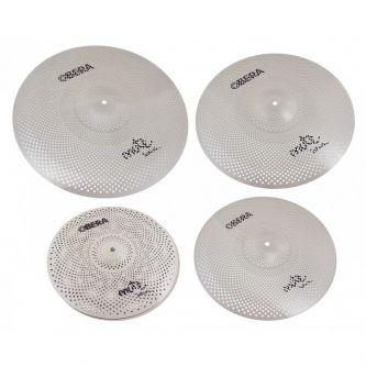 "Set 4 Cymbales Silencieuces Mute - 14"" 16"" 18"" 20"""