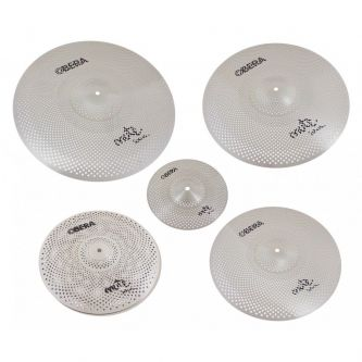 "Set 5 Cymbales Silencieuces Mute - 14"" 16"" 18"" 20"" 10"""