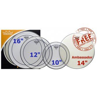 "Pro Pack (Pinstripe transparente 10"", 12"", 16"" + Ambassador sablée 14"" gratuite)"