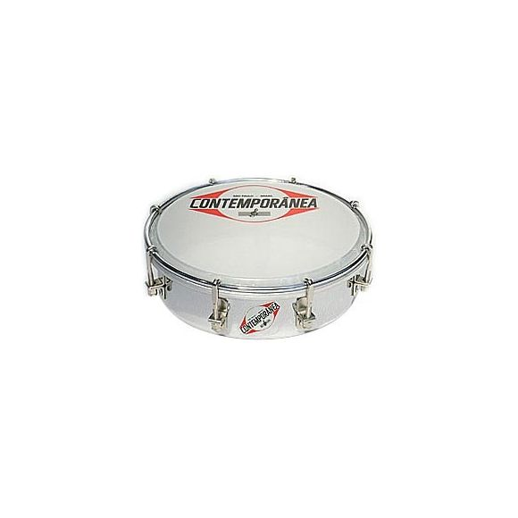 Tamborim 6'' metal chrome 6,5cm - 8 tir.
