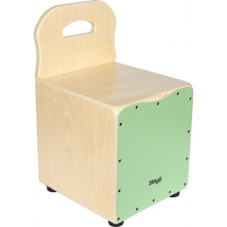 Cajon vert pour enfant avec dossier