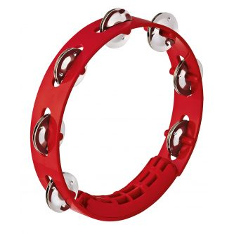Tambourin 20 cm avec cymbalettes rouge