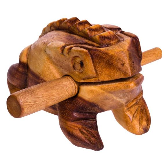 Grenouille guiro bois 14 cm