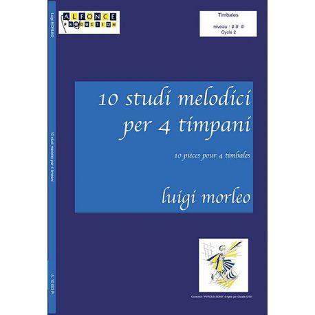 MORLEO Luigi : 10 studi melodici per 4 timpani