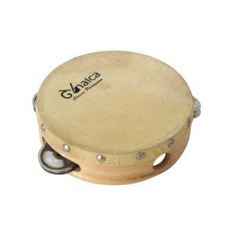 Tambourin peau naturelle 15 cm avec cymbalettes