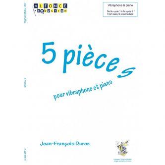 DUREZ Jean-Francois : 5 pièces pour vibra et piano