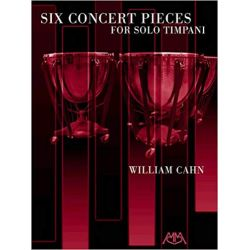 CAHN Bill : Six concert pièces for solo timpani