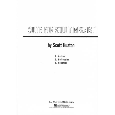 HUSTON Scott : Suite for solo timpanist