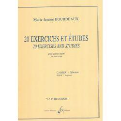 BOURDEAUX Marie-Jeanne : 20 exercices et études pour caisse claire