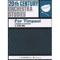 ABEL Alan : 20th century orchestra studies for timpani
